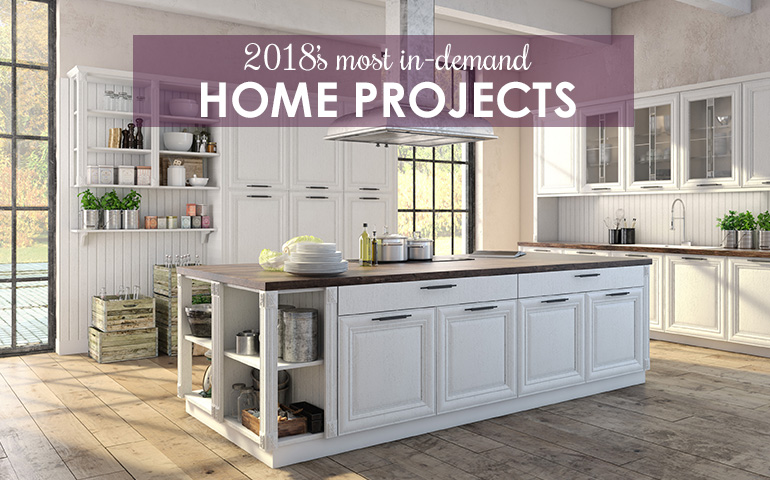 2018's Most In-Demand Home Upgrade Projects