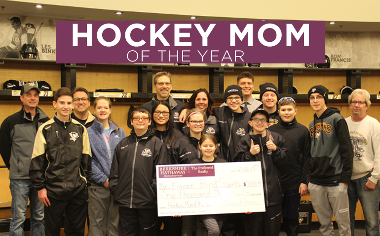 Congratulations to our Hockey Mom of the Year!