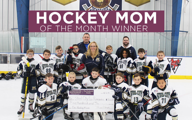 Congratulations to the December 2019 Hockey Mom Winner