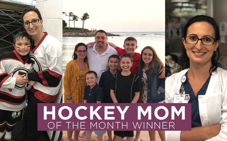 Congratulations to the March 2021 Hockey Mom Winner!