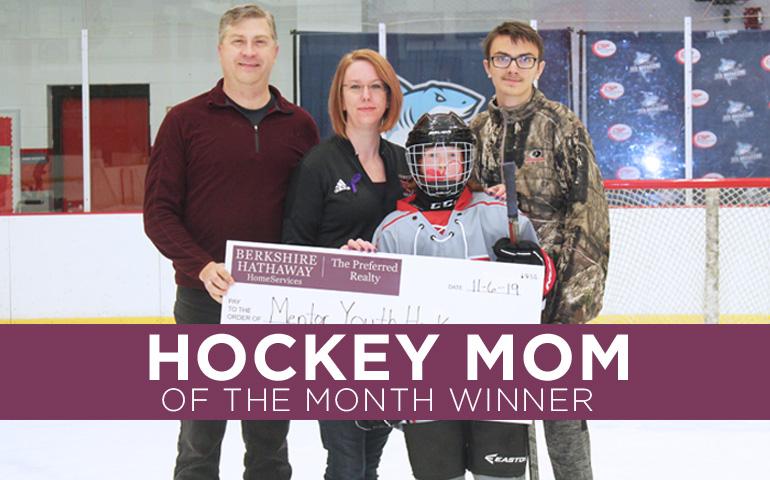Congratulations to the November 2019 Hockey Mom Winner