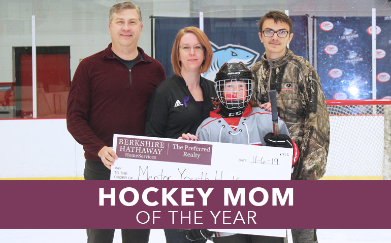 Congratulations, Elizabeth Turcovsky, our Hockey Mom of the Year!