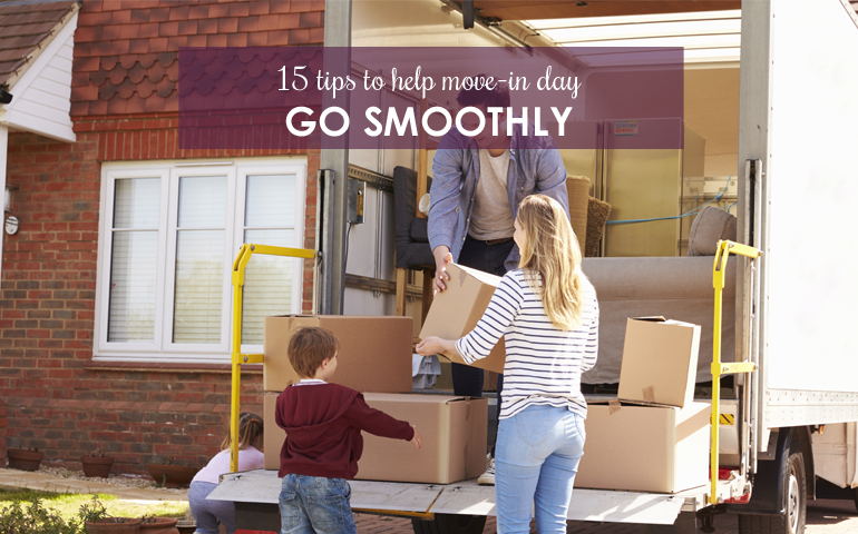 15 Tips to Help Move-in Day Go Smoothly