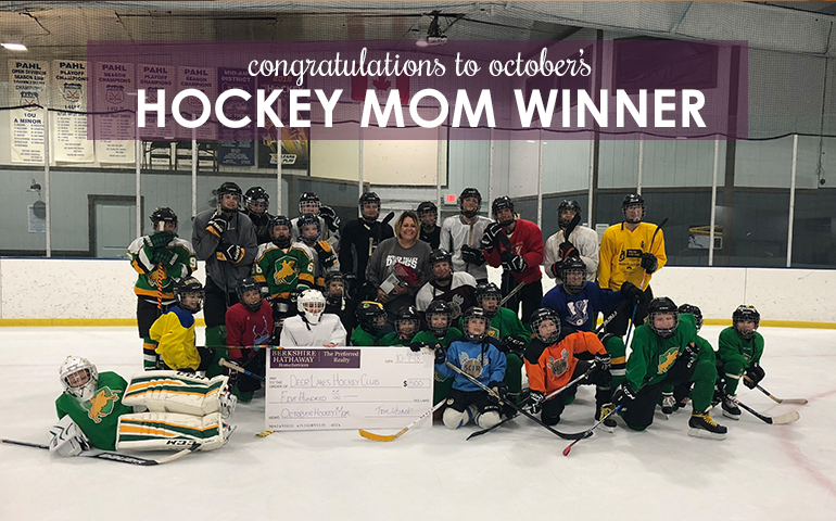 Congratulations to the October 2018 Hockey Mom Winner!